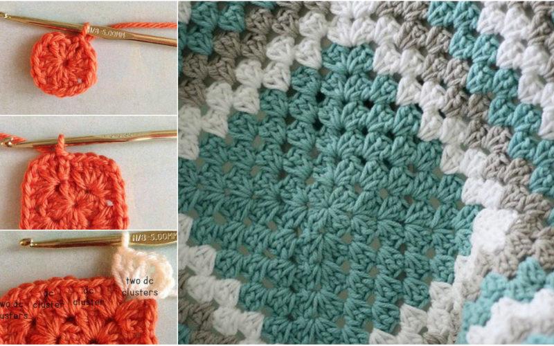Free Crochet Granny Square Clothing Patterns : Free Crochet Pattern Granny Square Baby Blanket