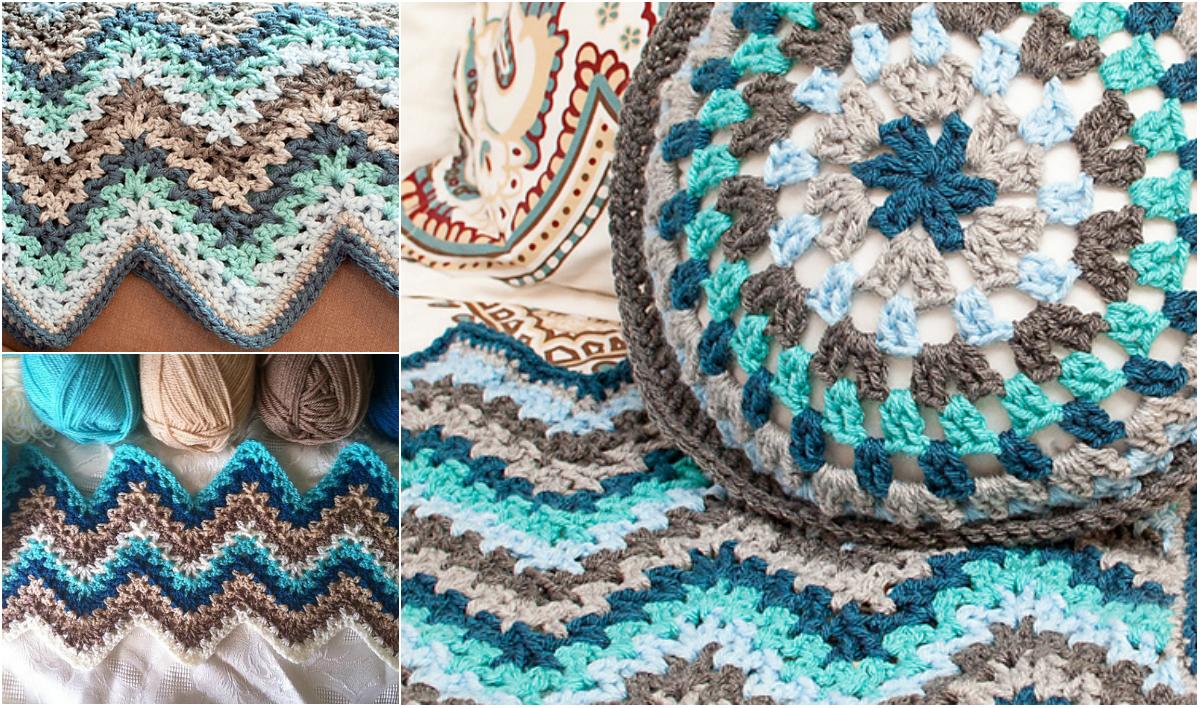 Easy V Stitch Crochet Ripple Afghan Free Pattern