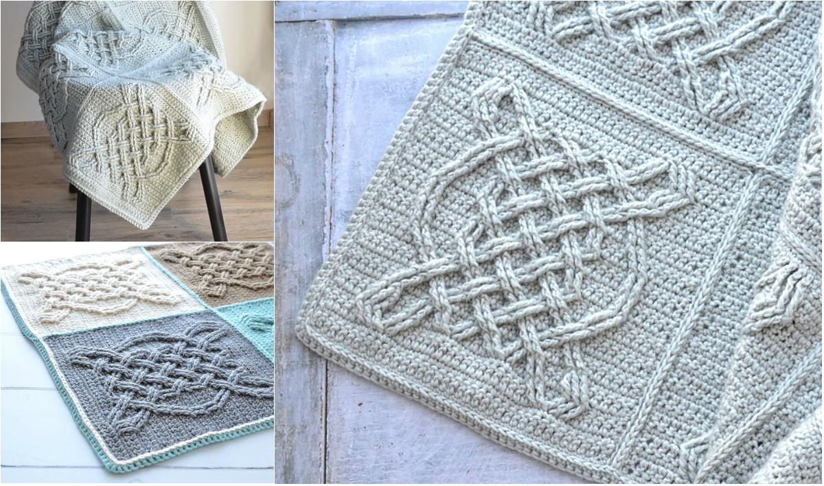 Free Pattern Crochet Celtic Tiles Blanket