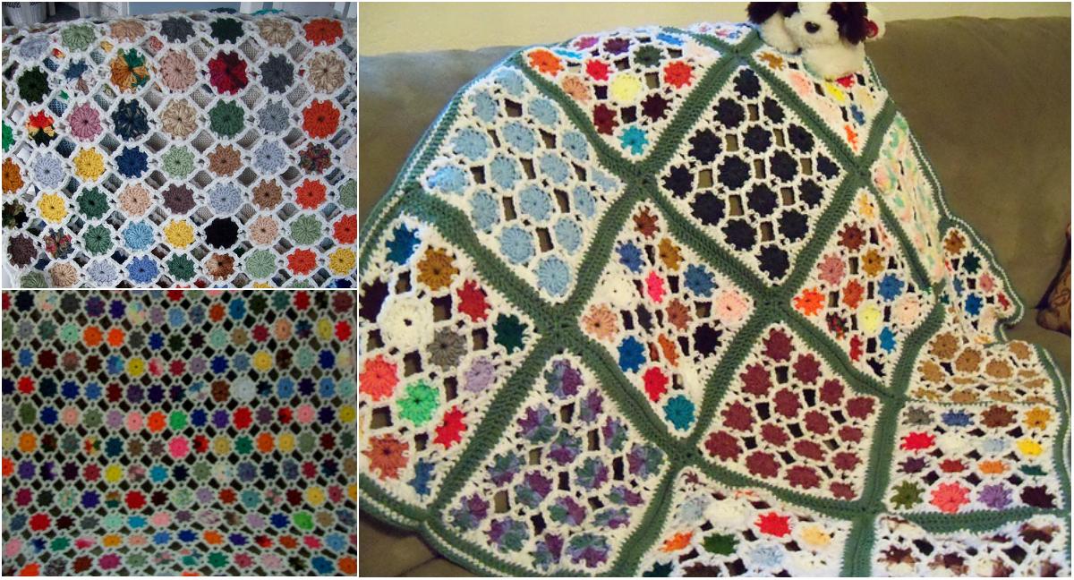 Crochet tutorial yo yo lapghan free pattern for Yo yo patterns crafts