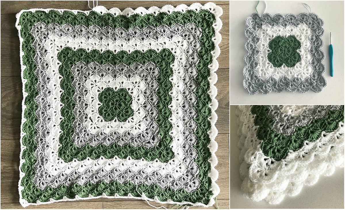 Shells Of Love Crochet Baby Blanket Pattern : Beautiful Shells Blanket Pattern & Shell Stitch Tutorial