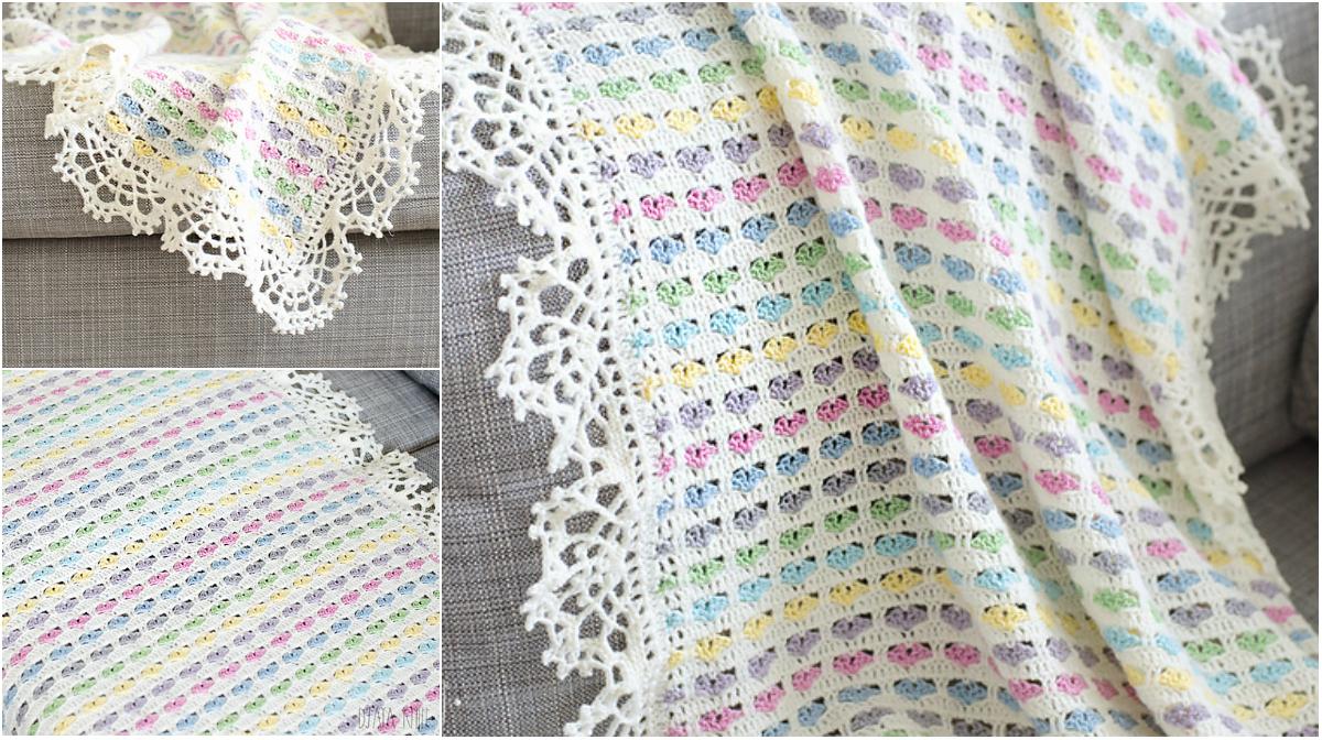 Light Hearts Blanket - Free Pattern