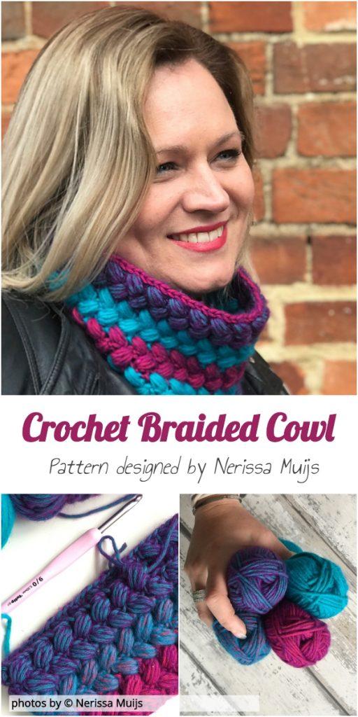 Crochet Braided Cowl Pattern Idea