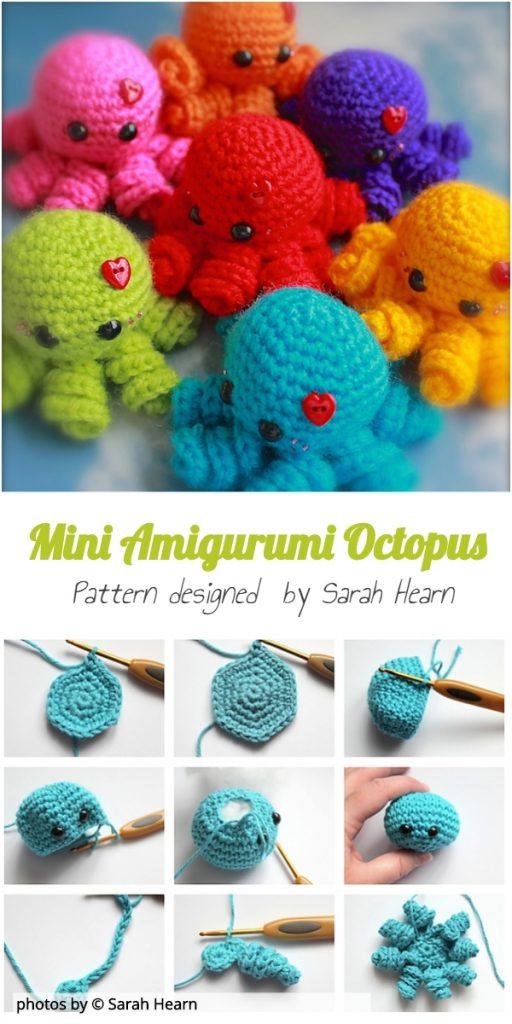 Free Pattern: Crochet Amigurumi Octopus | Croby Patterns | 1024x512