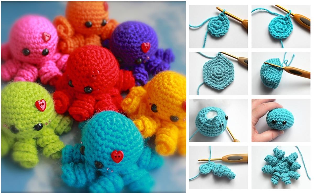 Mini Amigurumi Octopus Crochet Toy Idea