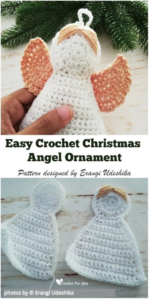 Easy Crochet Christmas Angel Ornament