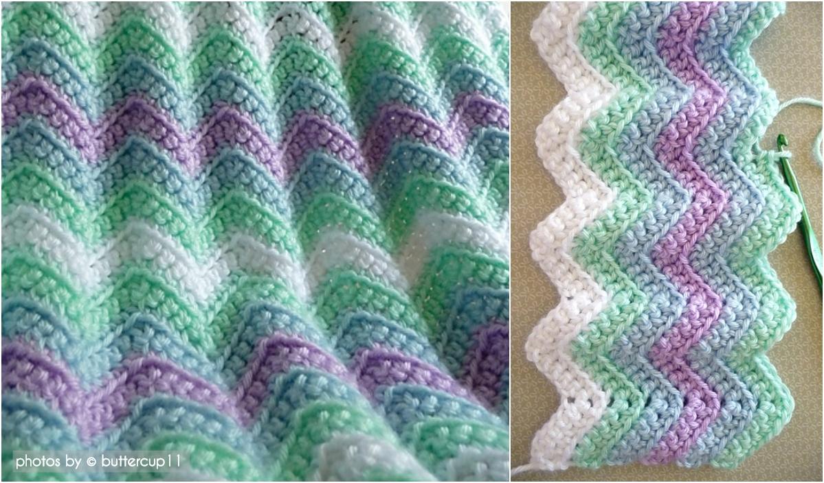 rickrack rainbow baby blanket pattern