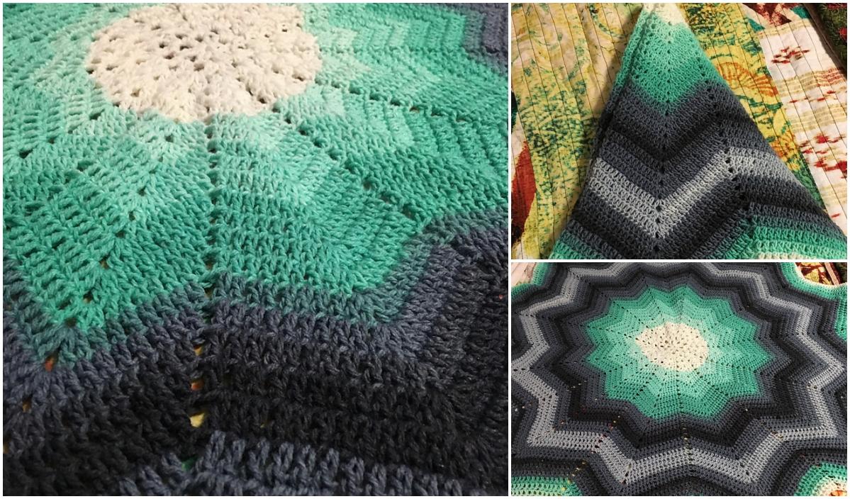 How To Crochet Beginners Round Ripple Baby Blanket