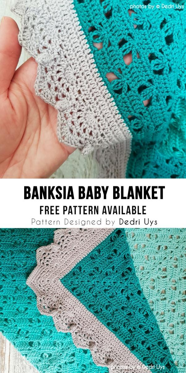 Crochet Banksia Baby Blanket
